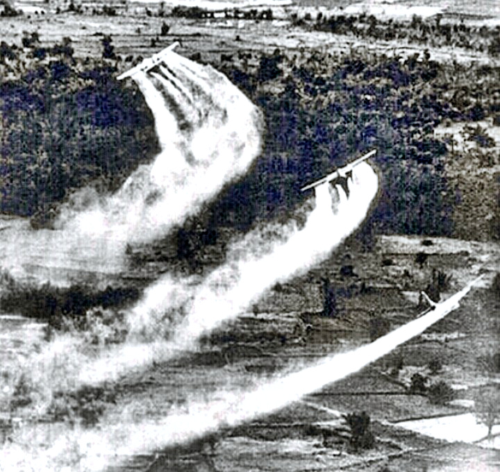 Agent Orange Defoliant Spraying by US Aircraft in Vietnam