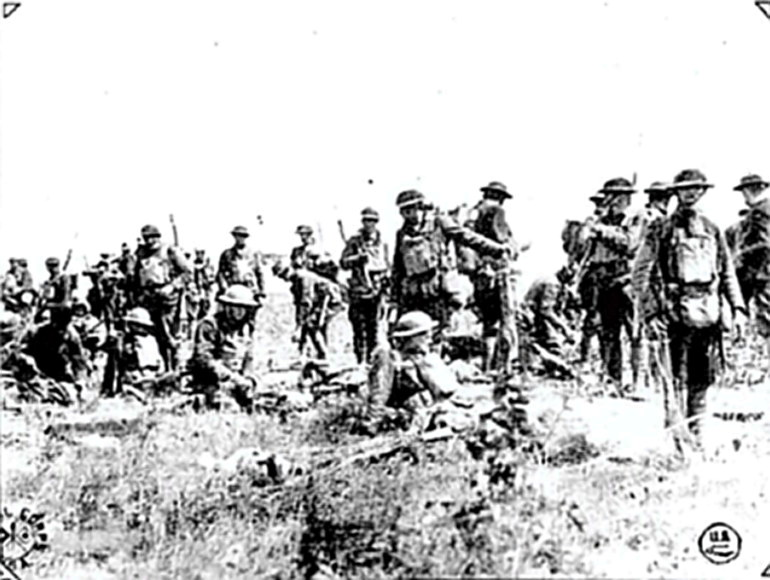 Doughboys at the beginning of Aisne-Marne battle