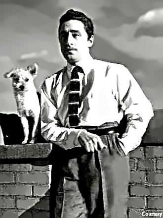 Composer Harold Arlen with his dog