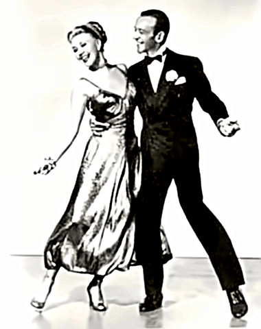 Dancers Fred Astaire & Ginger Rogers