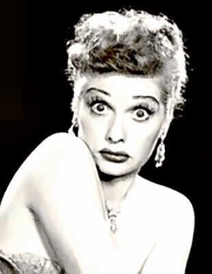 Comedienne Lucille Ball