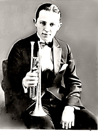 Bix Beiderbecke with his horn