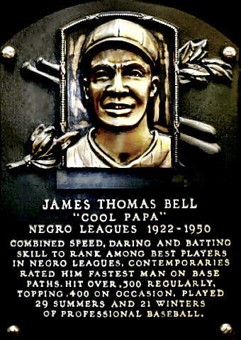 Cool Papa Bell Hall of Fame plaque
