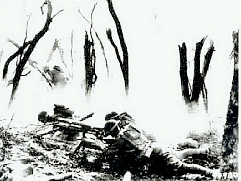 Belleau Wood - Marines with machinegun
