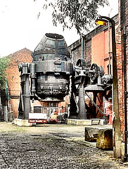 Bessemer Converter makes steel