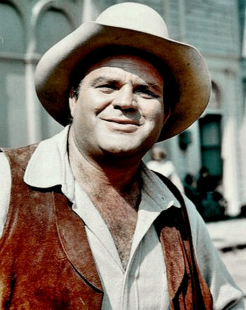 Actor Dan Blocker as Hoss Cartwright
