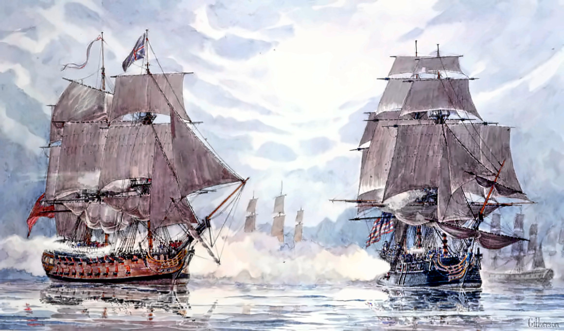 Frigate Bonhomme Richard vs. Frigate Serapis