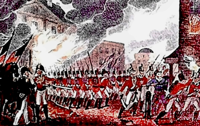 British troops sack Washington, DC; burn White House