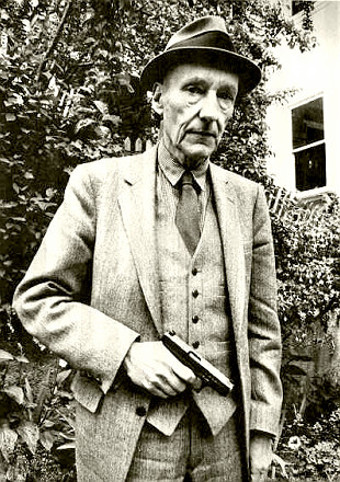 William Burroughs with gun