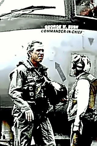 President Bush in a flight suit pretending to be a warrior