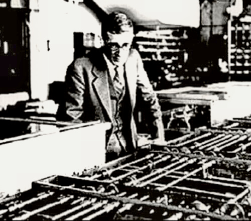 Vannevar Bush with an early analogue computer