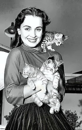 Susan Cabot with kittens