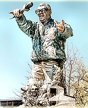 Sportscaster Harry Carey Statue