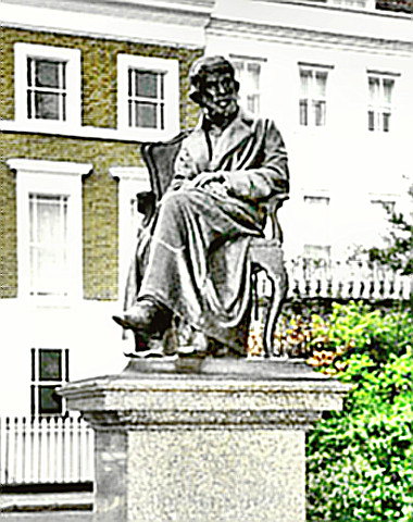 Statue of Historian Thomas Carlyle
