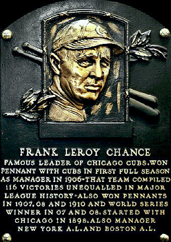 Baseball Hall of Famer Frank Chance