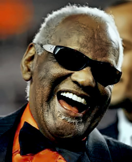 Grammy award-winning singer Ray Charles