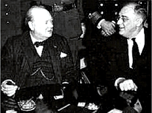 Churchill with FDR