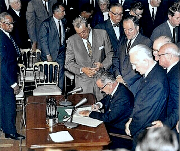 1964 Civil Rights Act signing ceremony