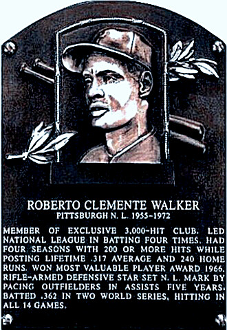 Roberto Clemente's Hall of Fame placque