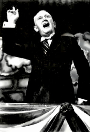George M. Cohan in one of his shows
