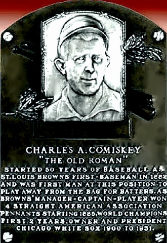 Charlie Comiskey Hall of Fame plaque
