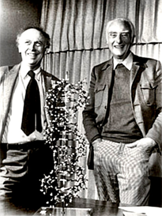 Francis Crick (right) & James Watson