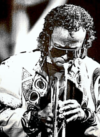 Jazz Virtuoso Miles Davis in a groove