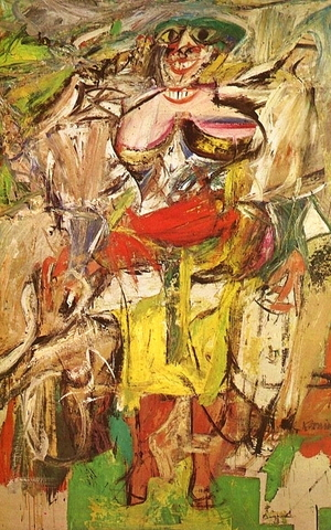 Willem de Kooning - Woman and bicycle