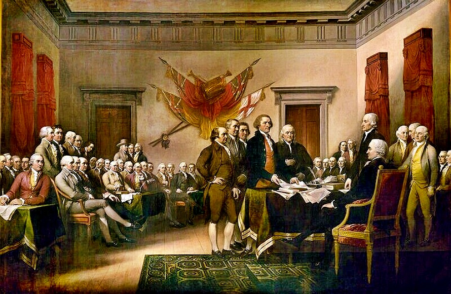 Signing of Declaration by Trumbull