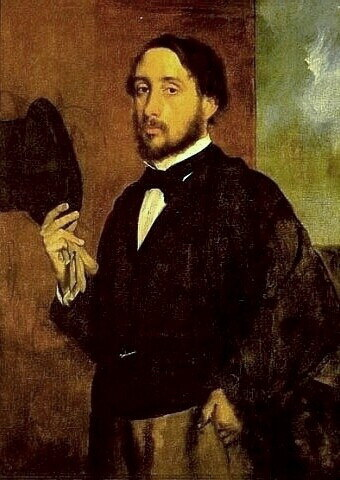 Artist Edgar Degas - His Self Portrait