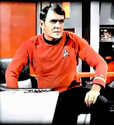 Actor James Doohan as Scotty