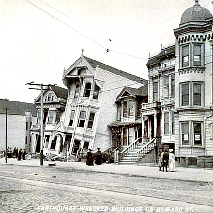 San Francisco Earthquake - 1906 Howard St. damage