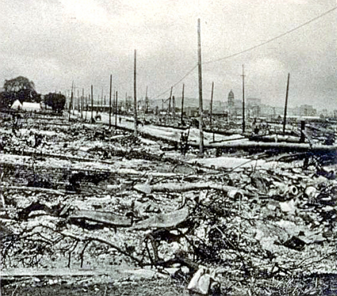 San Francisco Earthquake - 1906 Wide area fire devastation