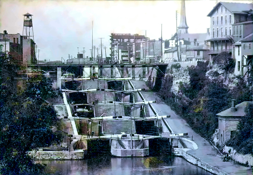 The Erie Canal at Lockport