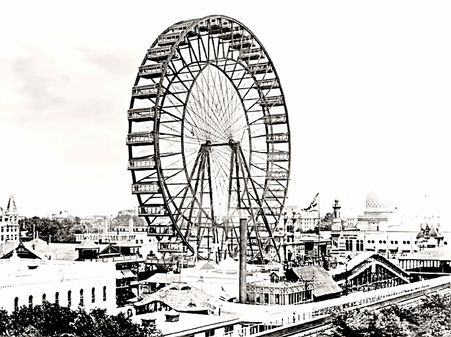 original Ferris wheel at 1893 Chicago World's Fair