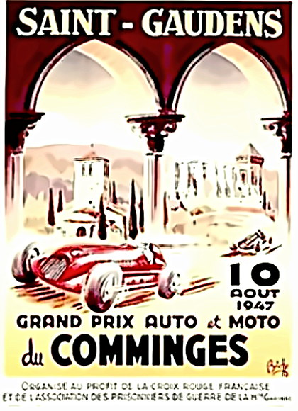 French Grand Prix 1947 poster