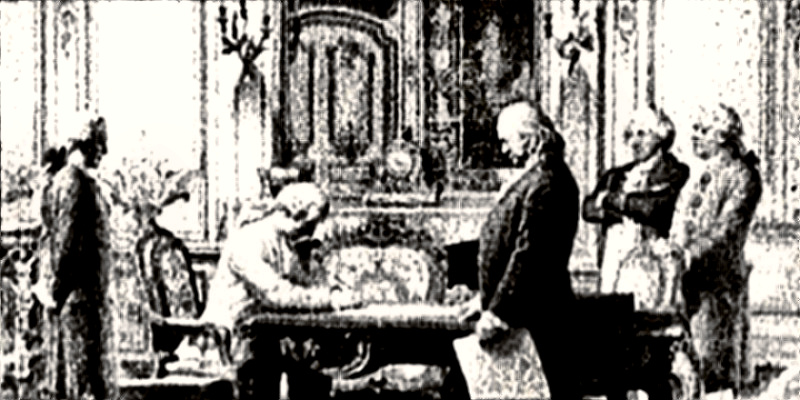 Signing of Treaty of Amity and Commerce and Treaty of Alliance with France