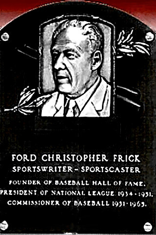 Ford Frick Hall of Fame plaque