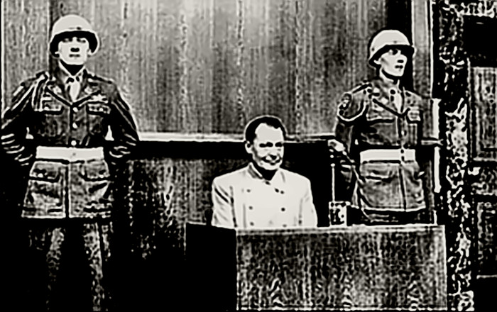 Herman Goering at Nuremburg War Crimes Trial