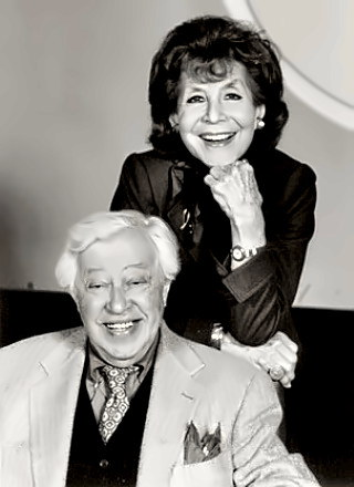 Lyricist Adolph Green with Betty Comden