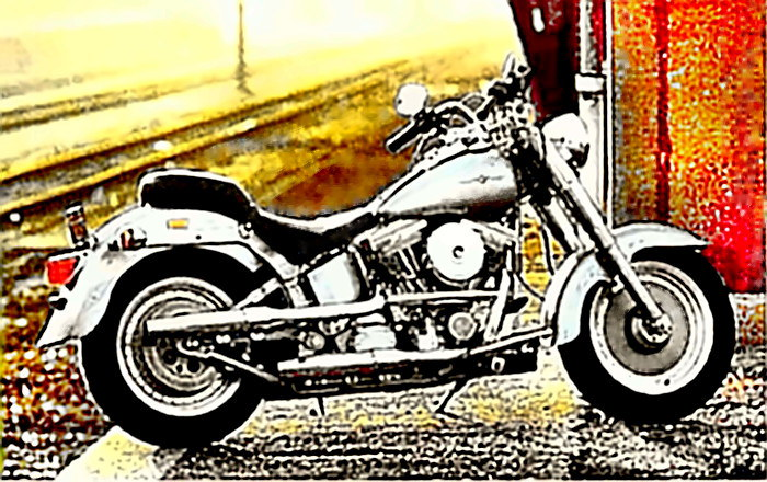 Classic Harley motorcycle