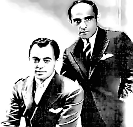 Composer Lorenz Hart with Richard Rogers