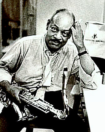 Coleman Hawkins with tenor saxophone