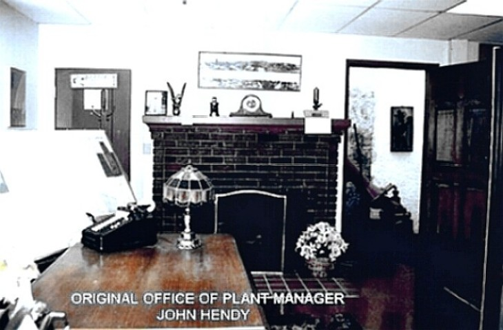 Hendy Plant Manager's office