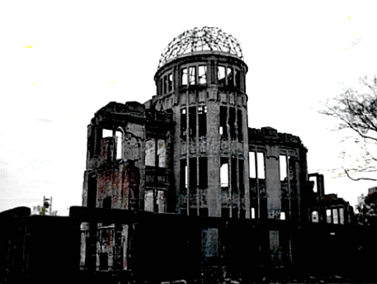 Hiroshima Peace Memorial - only structure that survived near ground zero