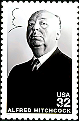Alfred Hitchcock stamp