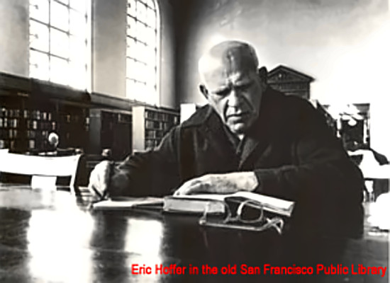 Eric Hoffer in the San Francisco Public Library - Courtesy of the Eric Hoffer Project