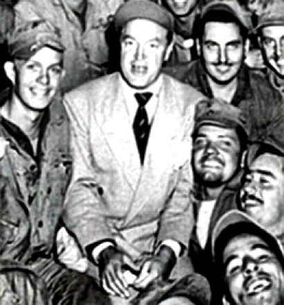 Bob Hope with troops