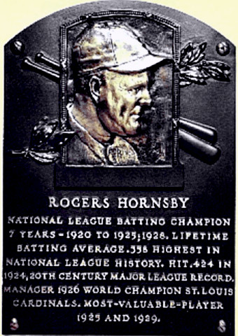 Hall of Famer Rogers Hornsby