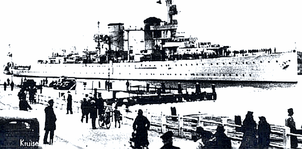 Dutch Cruiser Java - Lost in Battle of Java Sea - only 16 survivors